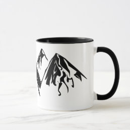 Mountain Black & White Mug