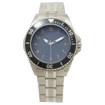 Mountain Blue and Orange Wristwatch