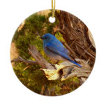 Mountain Bluebird at Arches National Park Ceramic Ornament