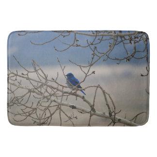 Mountain Bluebird Bathroom Mat