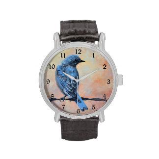 Mountain Bluebird Fine Art Wristwatch