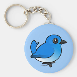 Mountain Bluebird Keychain