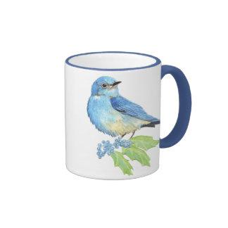 Mountain Bluebird Oregon Grape Ringer Mug