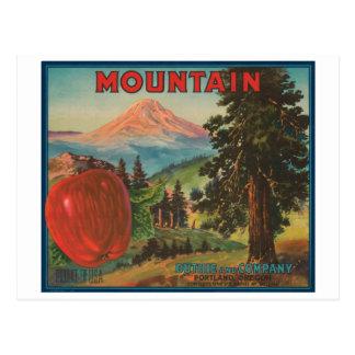 Mountain Brand Duthie y Cr de Apple del vintage de Tarjetas Postales