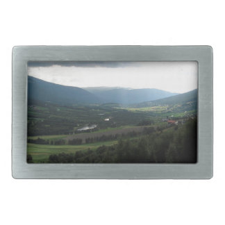 Mountain By The Road Rectangular Belt Buckle
