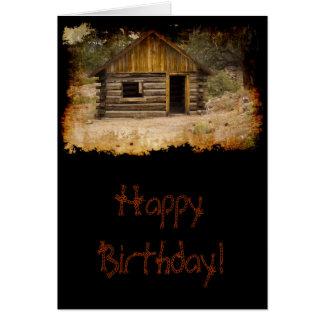Mountain Cabin Birthday Card