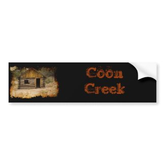 Mountain Cabin Bumper Sticker