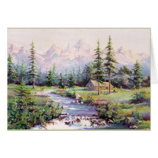 MOUNTAIN CABIN by SHARON SHARPE Card
