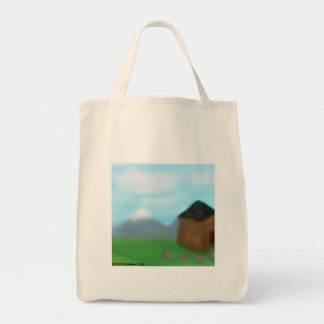 Mountain Cabin Grocery Tote Bag
