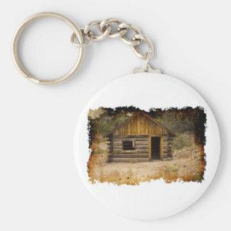 Mountain Cabin Keychain