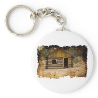 Mountain Cabin Keychains