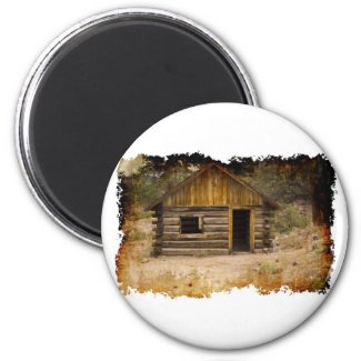 Mountain Cabin Magnet