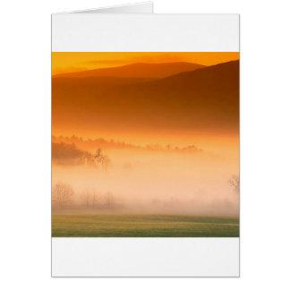 Mountain Cades Cove Sunrise Great Smoky Tenne Card