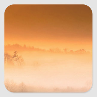 Mountain Cades Cove Sunrise Great Smoky Tenne Square Stickers