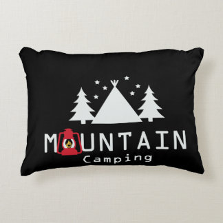 mountain camping accent pillow
