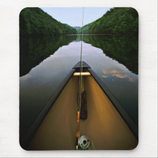 Mountain Canoe Fishing Mouse Pad