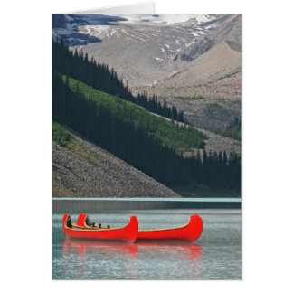 Mountain Canoes Blank Inside Greeting Card