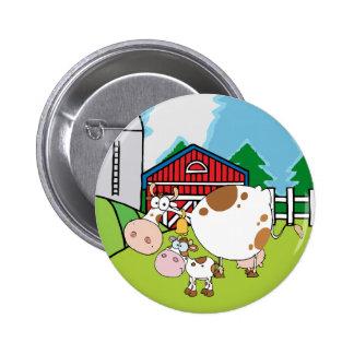 Mountain Cattle Ranch Pinback Button