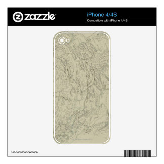 Mountain Chains Decal For iPhone 4
