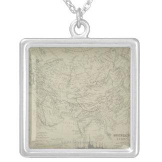 Mountain Chains Square Pendant Necklace