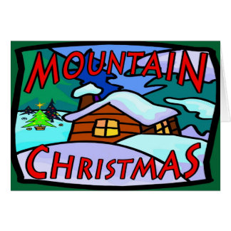 Mountain Christmas Card