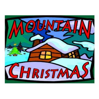 Mountain Christmas Postcard