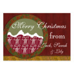 Mountain Christmas presents family gift tag Business Card