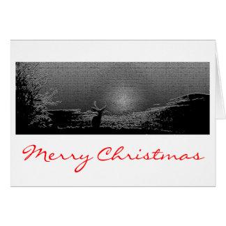 Mountain Christmas Star Greeting Card