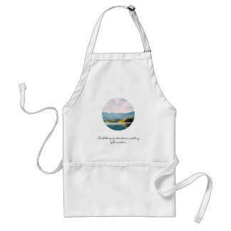 Mountain Circle Photo Inspirational Quote Adult Apron