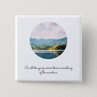 Mountain Circle Photo Inspirational Quote Button