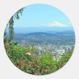 Mountain City Scenic, Portland, OR Classic Round Sticker