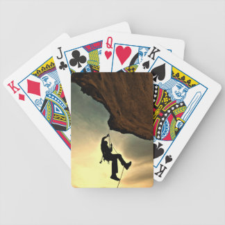 Mountain climber beautiful scenery bicycle playing cards