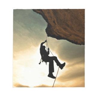 Mountain climber beautiful scenery notepad