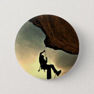 Mountain climber beautiful scenery pinback button