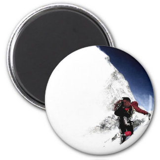 Mountain Climber Extreme Sports Magnet