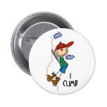 Mountain Climber Gift Pinback Button