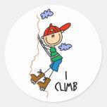 Mountain Climber Gift Round Stickers