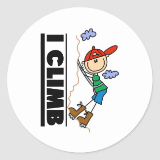 Mountain Climber I Climb  Classic Round Sticker