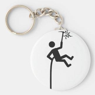 mountain climber icon basic round button keychain