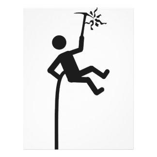 mountain climber icon flyer