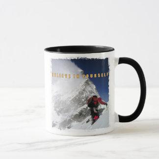 mountain climber motivation inspiration quote mug