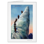 Mountain Climbers Attempting to Ascend a Serac Greeting Card