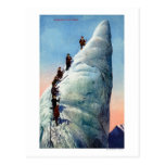 Mountain Climbers Attempting to Ascend a Serac Postcard