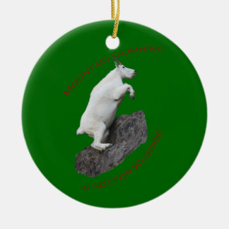 Mountain Climbing Ceramic Ornament
