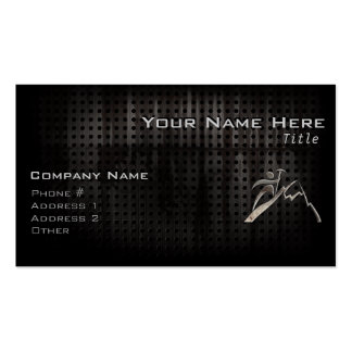Mountain Climbing; Cool Black Double-Sided Standard Business Cards (Pack Of 100)