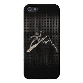 Mountain Climbing; Cool Black iPhone 5/5S Cases