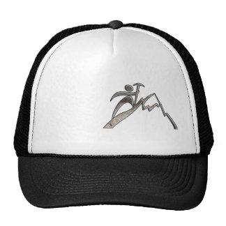 Mountain Climbing; Cool Black Trucker Hat
