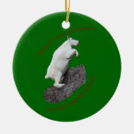 Mountain Climbing Double-Sided Ceramic Round Christmas Ornament
