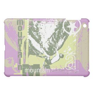 Mountain Climbing Green and Lilac iPad Mini Cover