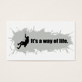 Mountain Climbing is a Way of Life Business Card